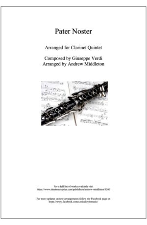Pater Noster arranged for Clarinet Quintet