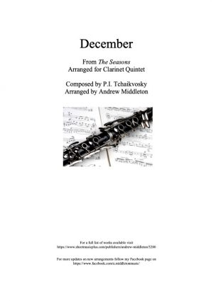 December from The Seasons arranged for Clarinet Quintet