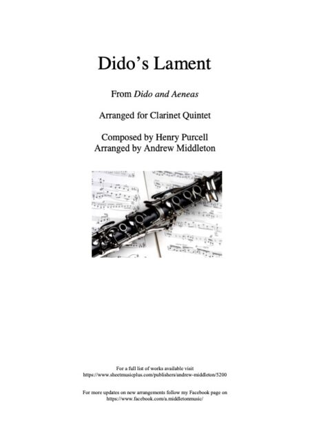Clarinet Front cover 3
