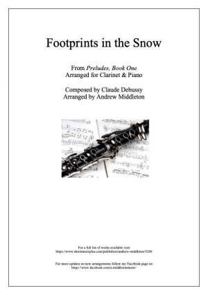 Footprints in the Snow arranged for Clarinet Quintet