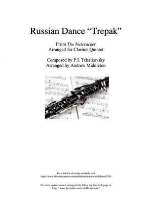 "Russian Dance ""Trepak"" arranged for Clarinet Quintet"