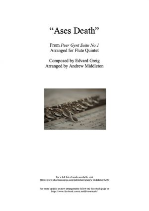 Ases Death from Peer Gynt Suite arranged for Flute Quintet