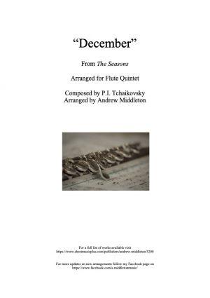 December from The Seasons arranged for Flute Quintet