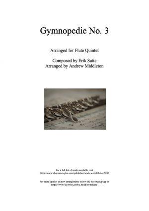 Gymnopedie No. 3 arranged for Flute Quintet