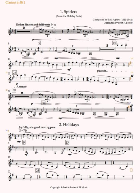 Holiday Suite Clarinet 1 Preview