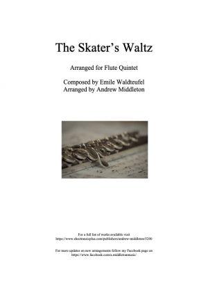 The Skater's Waltz arranged for Flute Quintet