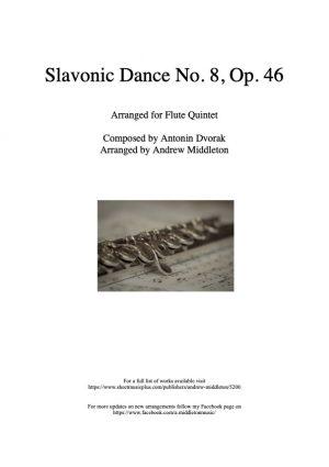 Slavonic Dance No. 8 in G Minor arranged for Flute Quintet