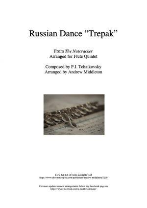 """Russian Dance """"Trepak"""" from The Nutcracker arranged for Flute Quintet"""