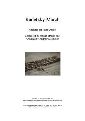 Radetzky March arranged for Flute Quintet