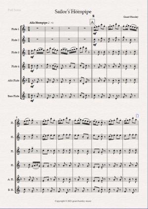 """""""Sailor's Hornpipe"""" for Flute Choir"""