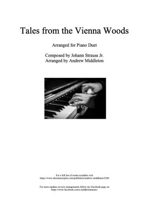 Tales from the Vienna Woods arranged for Piano Duet
