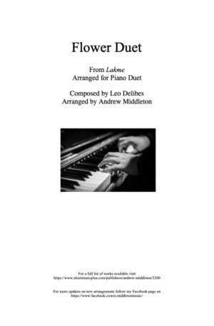 Flower Duet from Lakme for Piano Duet