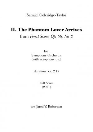 II. The Phantom Lover Arrives – for symphony orchestra (full score)
