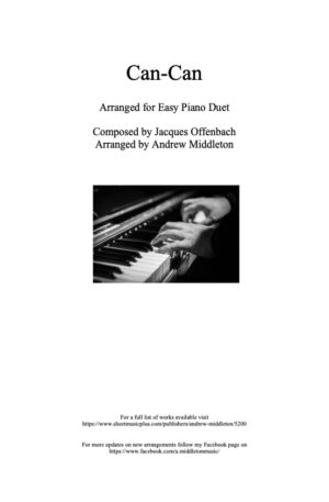 Can-Can arranged for Easy Piano Duet