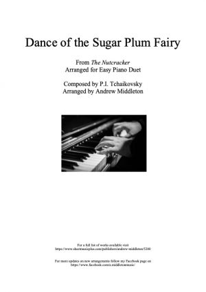 Dance of the Sugar Plum Fairy arranged for Easy Piano Duet