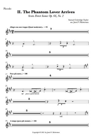 II. The Phantom Lover Arrives – for symphony orchestra (parts)