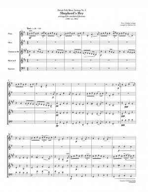 Grainger: Shepherd's Hey (arr. for wind quintet)