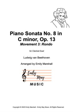 Piano Sonata No. 8 in C minor, Movement 3: Rondo – Beethoven (for Clarinet Duet)