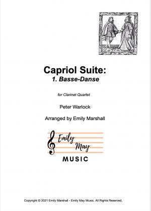 1. Basse-Danse, Capriol Suite – Warlock (for Clarinet Quartet)