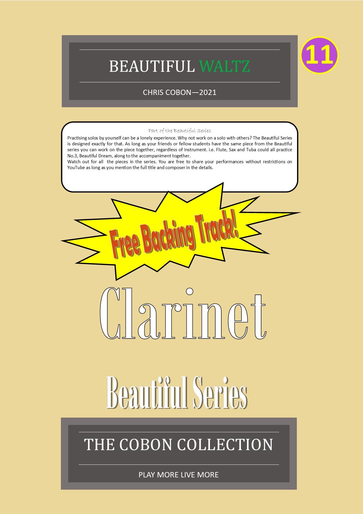 No.11 Beautiful Waltz (Clarinet or Bass Clarinet)