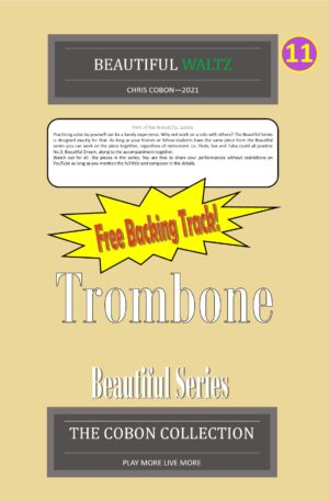 No.11 Beautiful Waltz (Trombone Bass Clef or Bb Treble Clef)