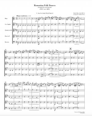 Romanian Folk Dances (arr. for wind quintet)
