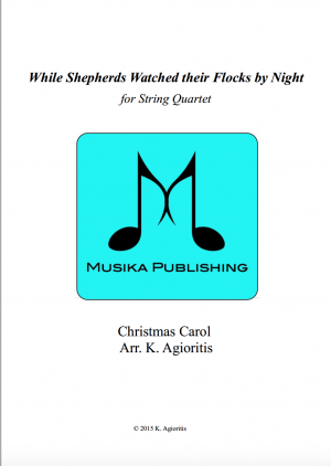 While Shepherds Watched Their Flocks By Night – String Quartet