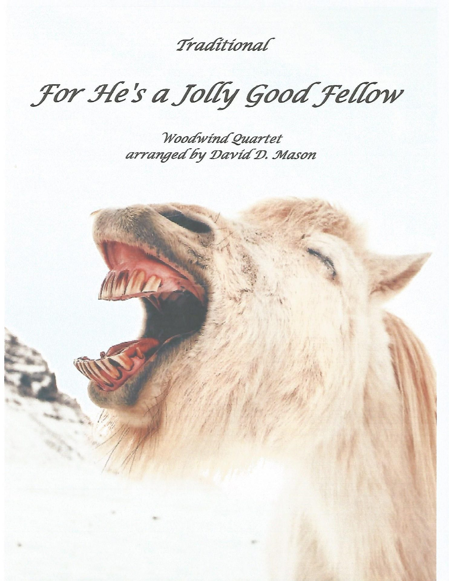 For Hes a Jolly Good Fellow Woodwind Quartet front cover scaled