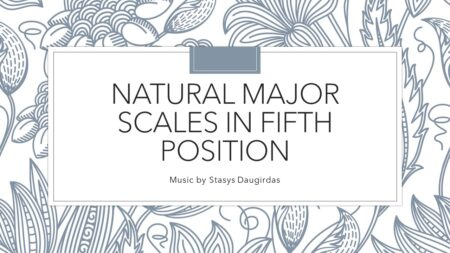 Natural major scales in fifth position cover
