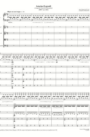 Asturias (Legend) (arr. for harp and string quartet)