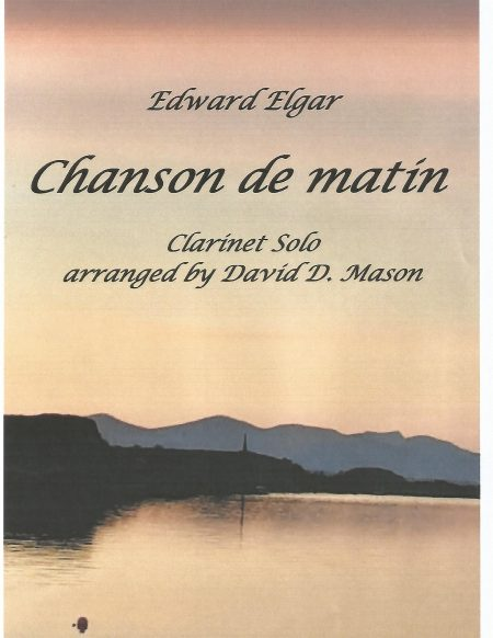 Chanson de matin Clarinet front cover scaled