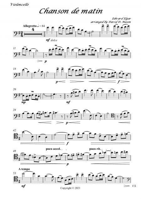 Chanson de matin Cello Parts 1 scaled