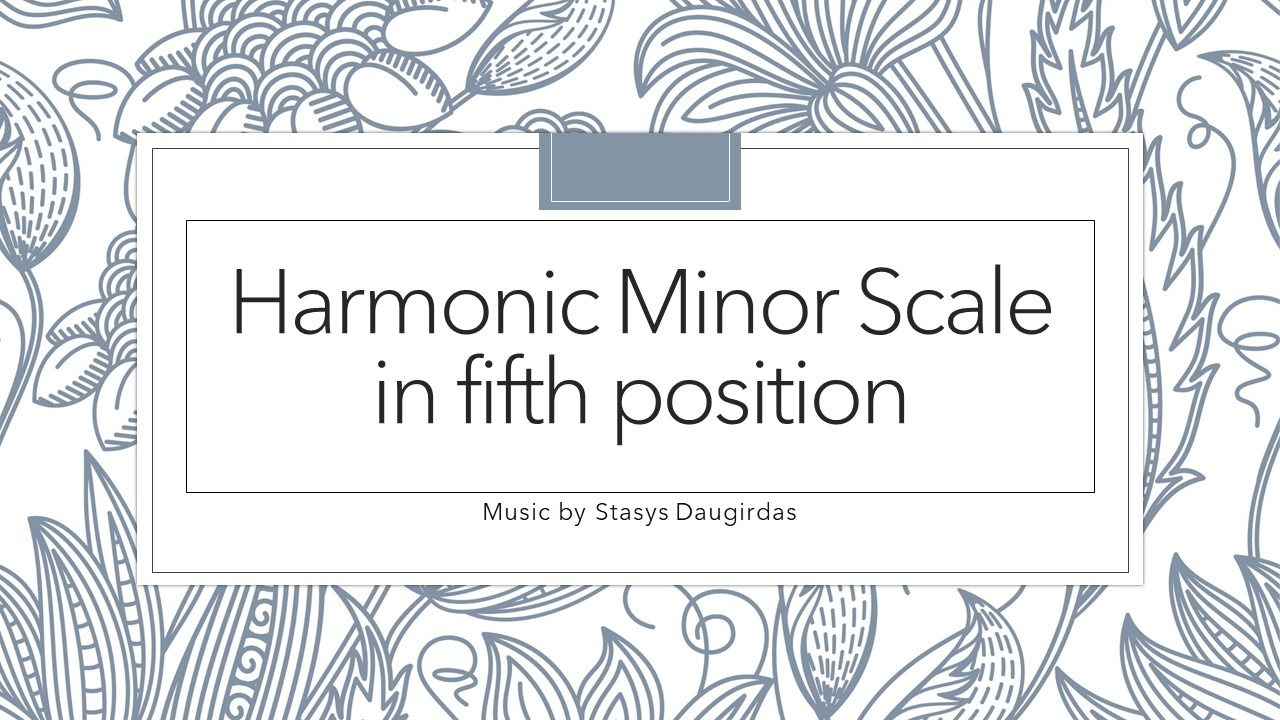 Harmonic Minor Scale in fifth position cover