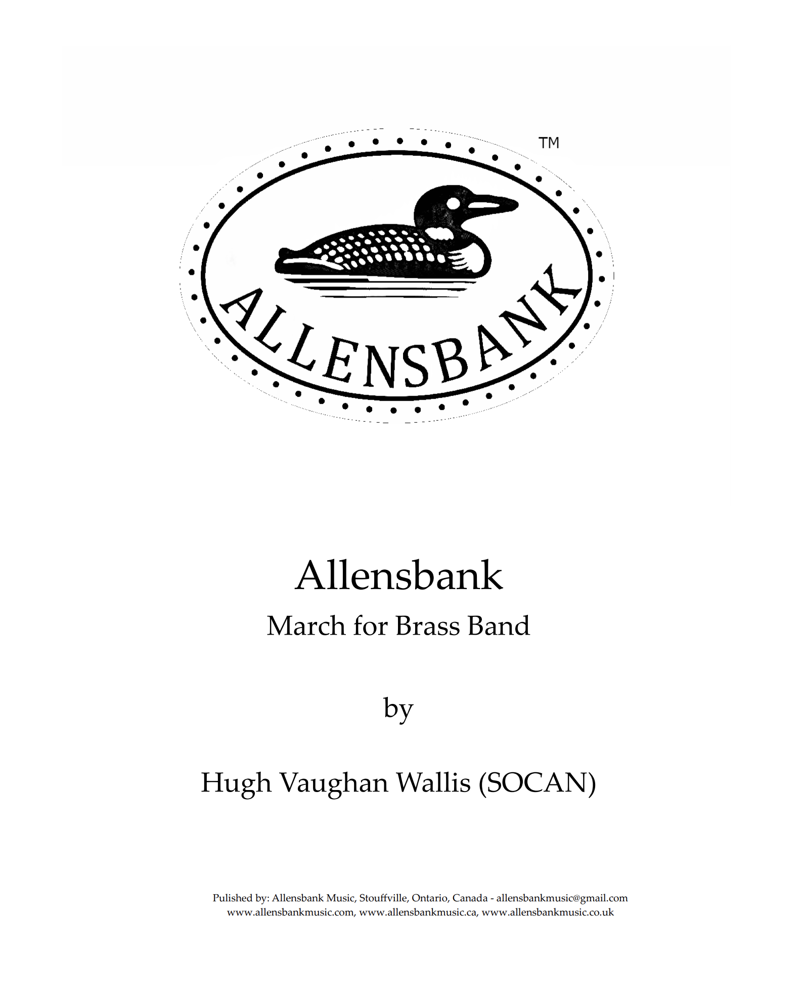 Allensbank – March for Brass Band