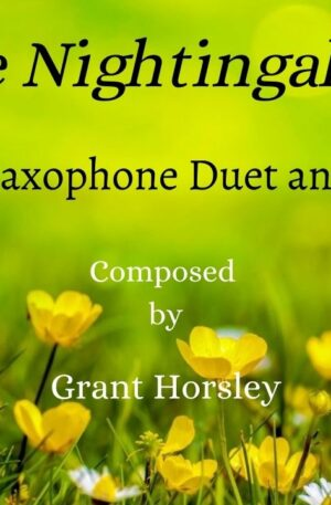 """""""The Nightingale"""" Alto Sax Duet and Piano- early Intermediate"""