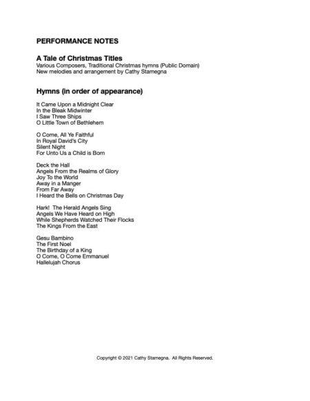 A Tale of Christmas Titles List JPEG