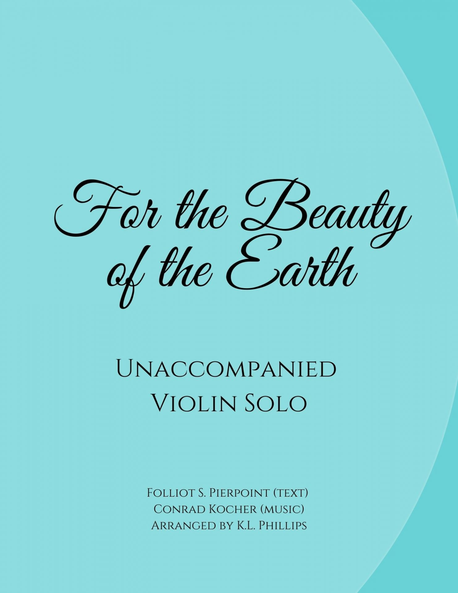 For the Beauty of the Earth web cover