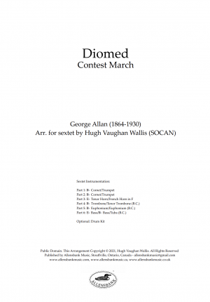 Diomed – Contest March by George Allan – arranged for brass sextet