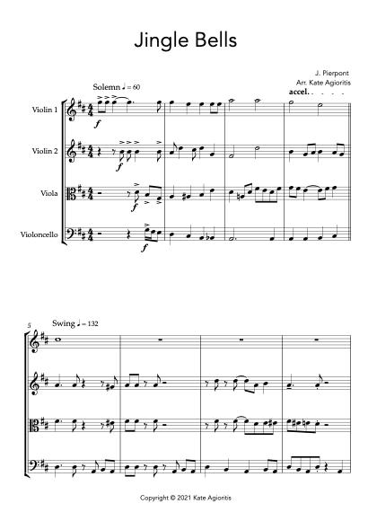 Jingle Bells - Jazz Arrangement for String Quartet