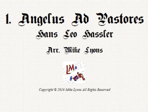 Angelus ad Pastores – Flexi Quartet