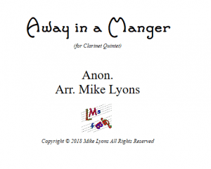 Away In a Manger – Clarinet Quintet