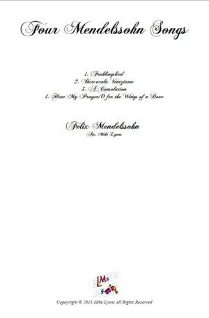 Brass Quintet – Four Mendelssohn Songs