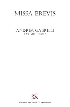 Brass Quintet – Missa Brevis in F – A. Gabrieli