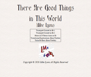Brass Quintet – There Are Good Things in This World