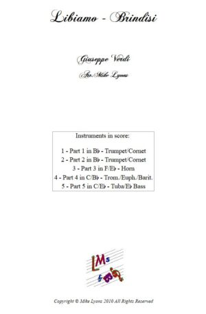 Brass Quintet – Verdi Brindisi – Libiamo