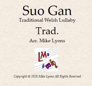 "Clarinet Quintet – Welsh Lullaby ""Suo Gan"""
