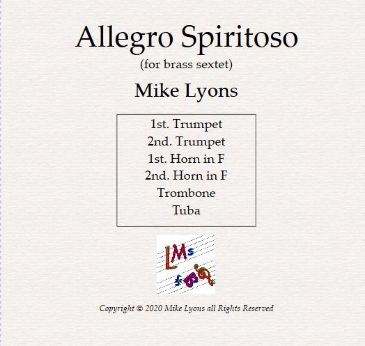 Brass Sextet – Allegro Spiritoso