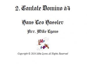 Cantate Domino a4 – Flexible Quartet