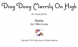 Clarinet Quintet – Ding Dong Merrily on High