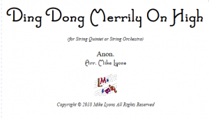 String Quintet or String Orchestra – Ding Dong Merrily on High